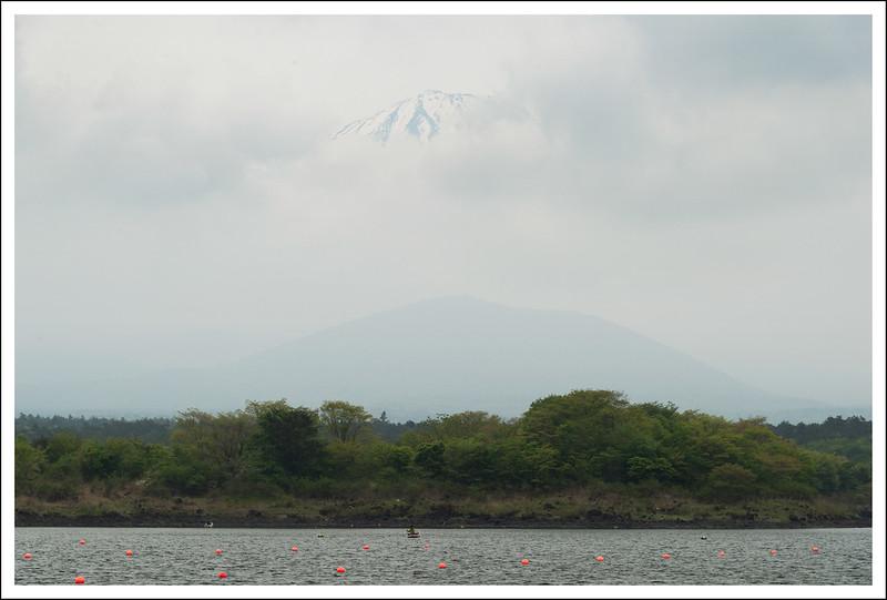 Mt. Fuji hiding at Shojiko