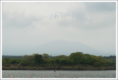 Mt. Fuji hiding at Shojiko