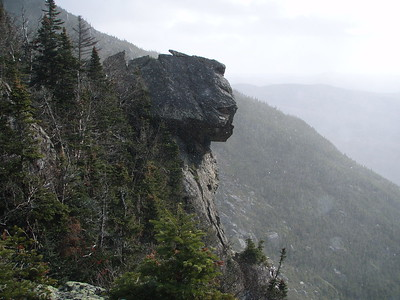 Use your imagination to describe this rock face. What does it resemble?