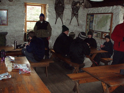 We decided to check out the Carter Notch Hut and have lunch inside.