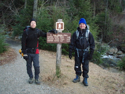 We started up the Nineteen Mile Brook Trail around 8:15, and the parking lot was almost empty at that time.