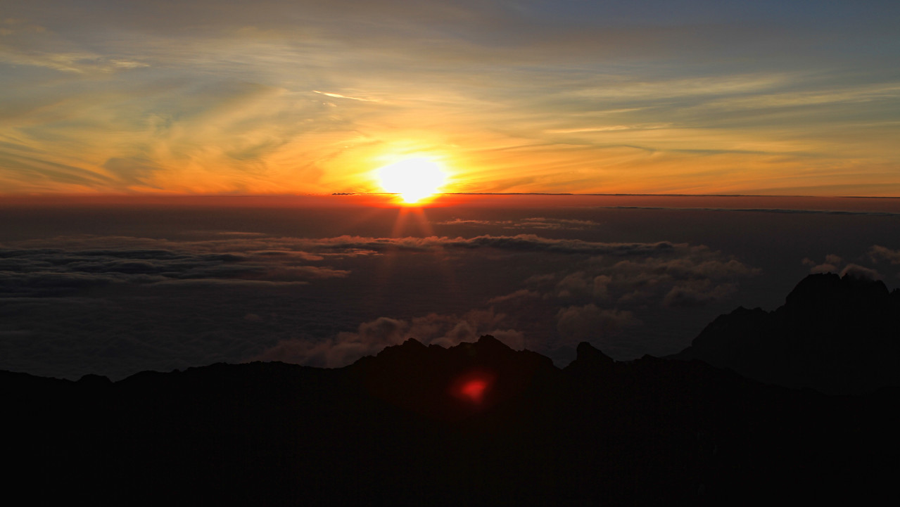 Sunrise at the top was epic