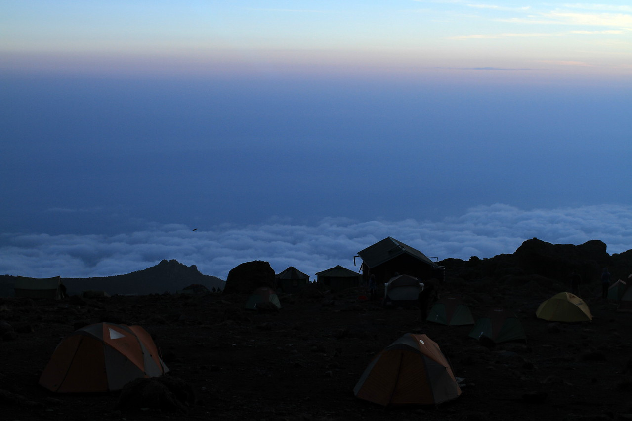 Camping at the top of the world