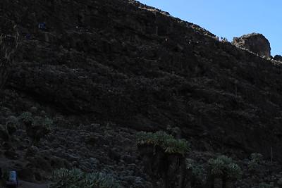 Barranco Wall: seemingly impossible way to go