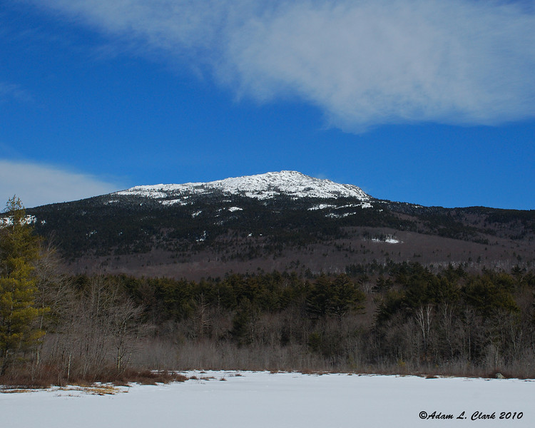 The goal for the day.  Mt. Monadnock as seen from Perkins Pond