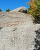 Looking up some big rocks