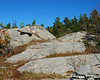 Large rocky opening next to the trail