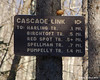 Cascade Link trail sign.  I am taking it all the way to the Pumpelly Trail