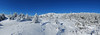 Panoramic of the summit and opening area of the Red Spot Trail just before meeting the Pumpelly Trail