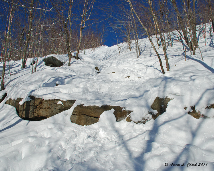 A steap climb just before the first open views