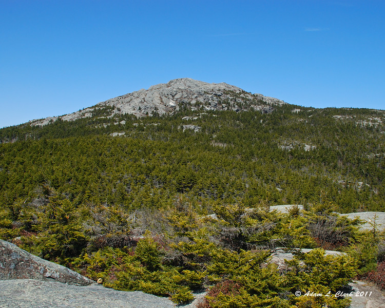 View up to the summit from Bald Rock