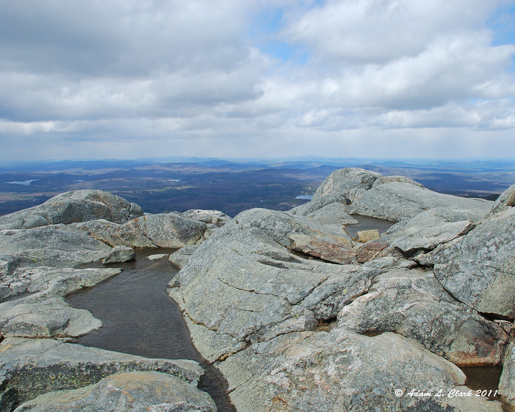 Looking Northwest over the summit