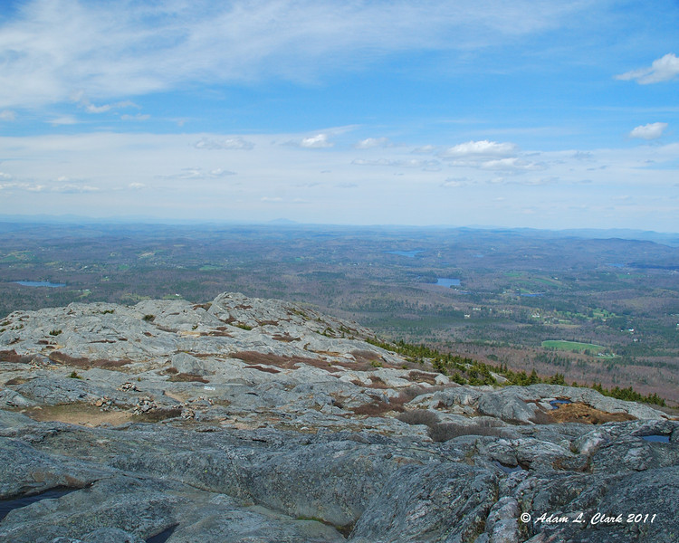 Looking Northwest from the summit over the Dublin/Marlboro Trails