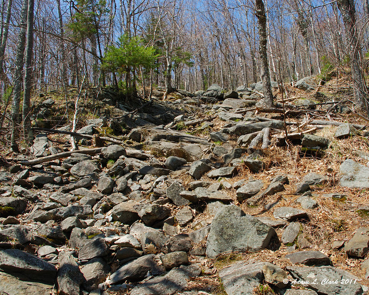 The Red Spot Trail can be very rocky