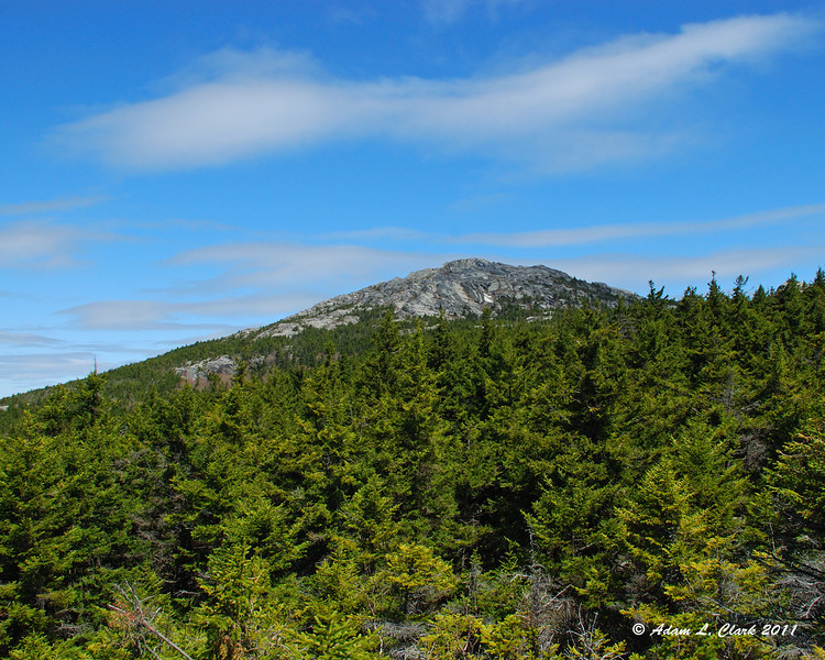 The summit seen from near the top of the Noble Trail
