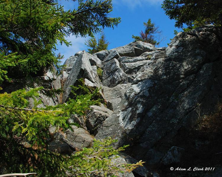 The last hard climb on the Cliff Walk Trail