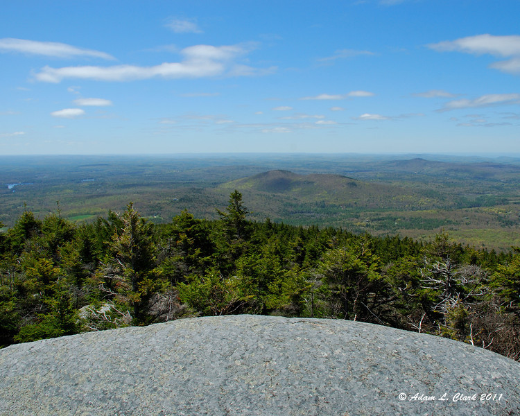 View South over Gap Mountain from Bald Rock