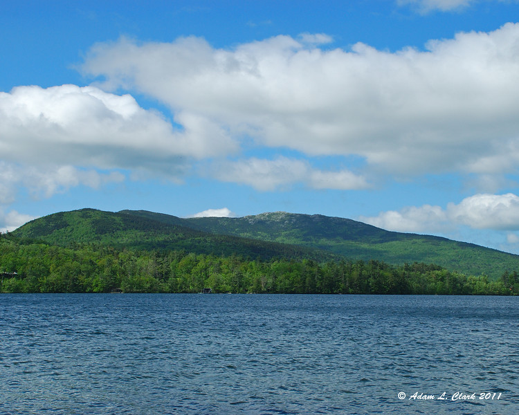 View of the mountain from Dublin Lake on the way to the trailhead