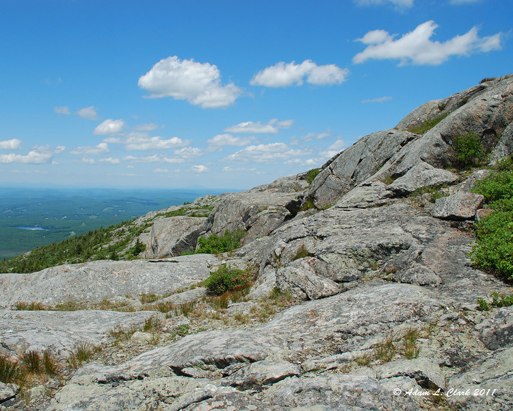 Looking Northwest over the rocks of the mountain