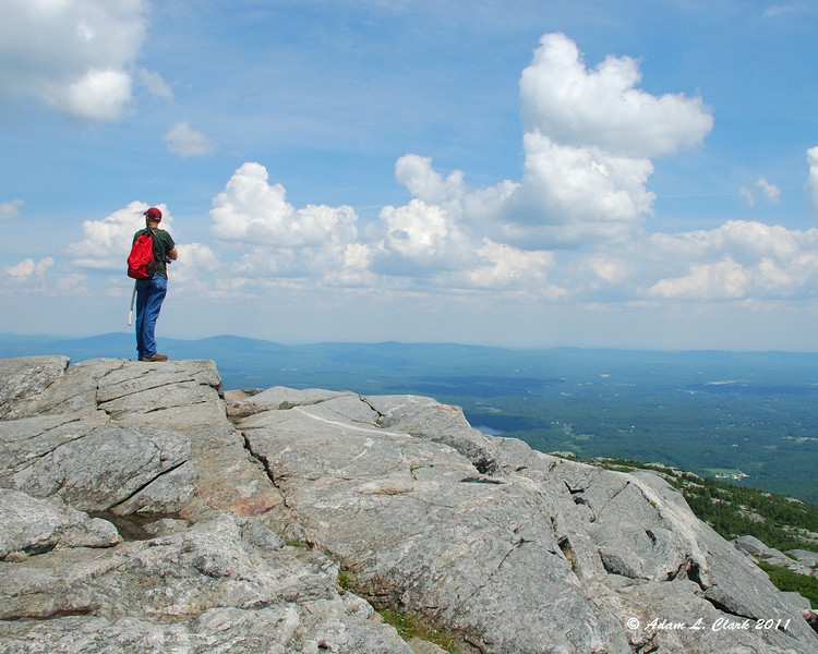 A solo hiker taking in the view