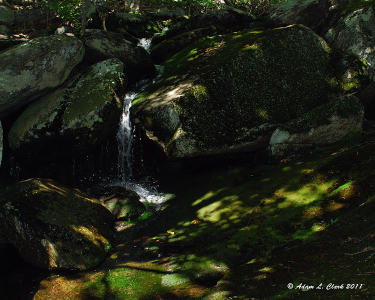 A small cascade in the brook near the Cascade Link