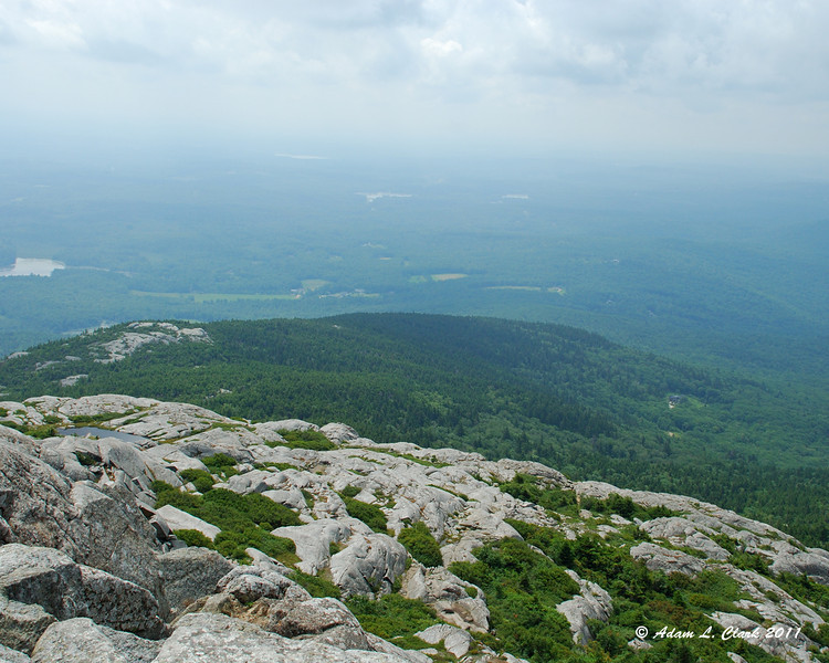 View South from the summit over Bald Rock