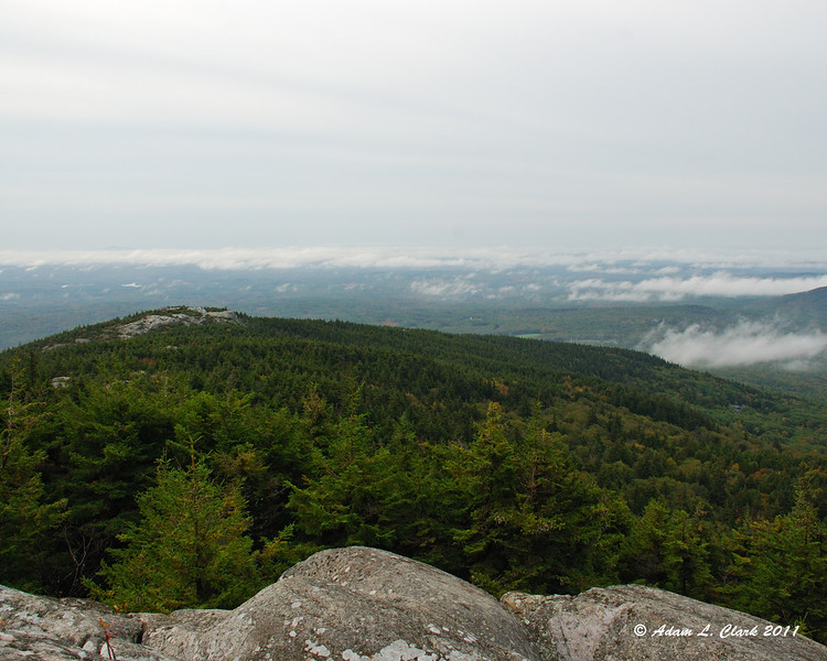 Looking past Bald Rock from the White Arrow Trail