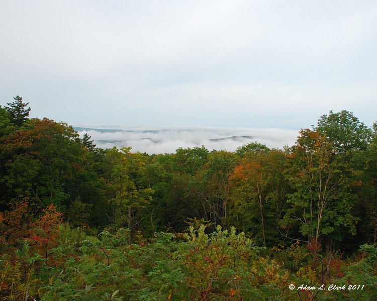 At the Old Halfway House Site and above the fog, but below the clouds