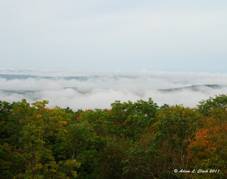 Looking down onto the fog