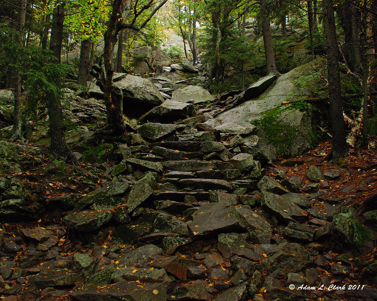Stone stairs in the White Arrow Trail