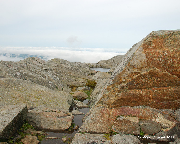 Looking West over the summit