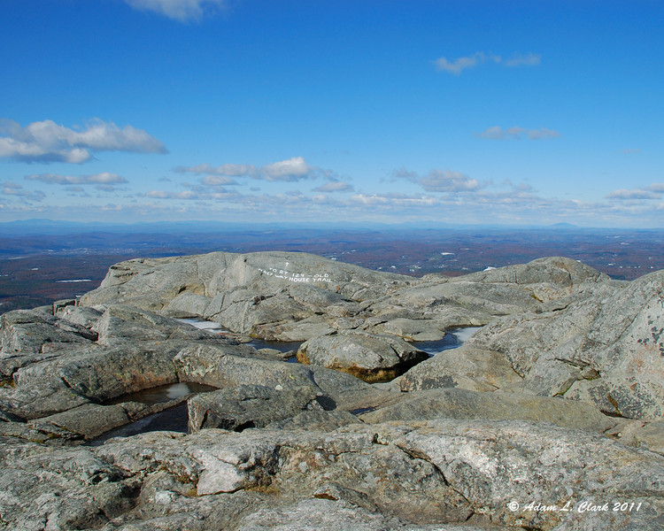 View West over the summit
