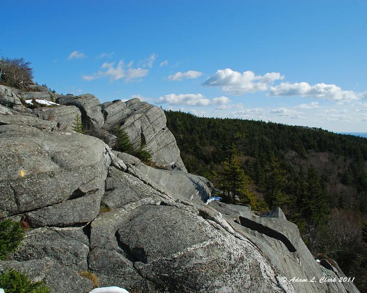 Looking over the Black Precipice