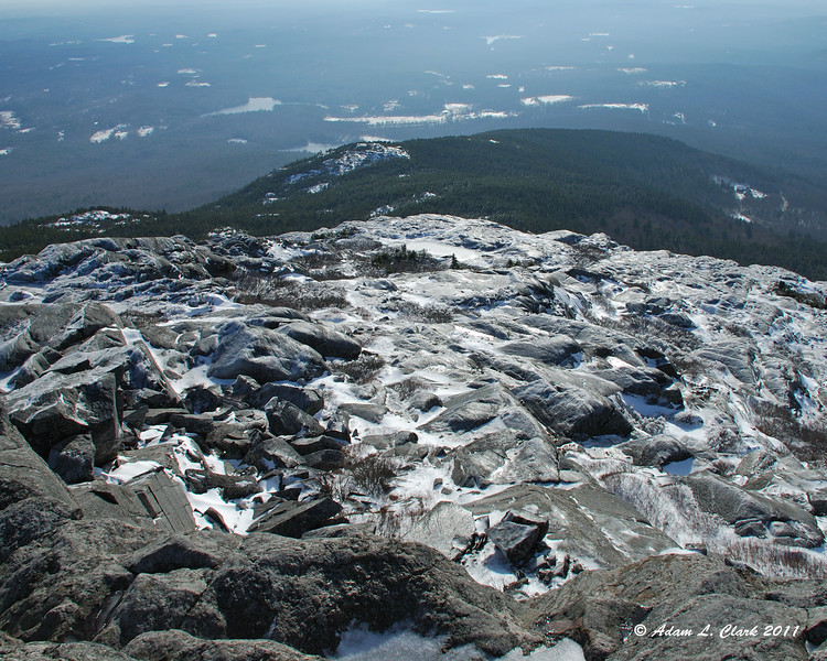 Looking South down to Bald Rock from the summit
