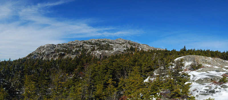 Panoramic view of the summit