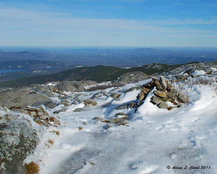 View Northeast near the summit