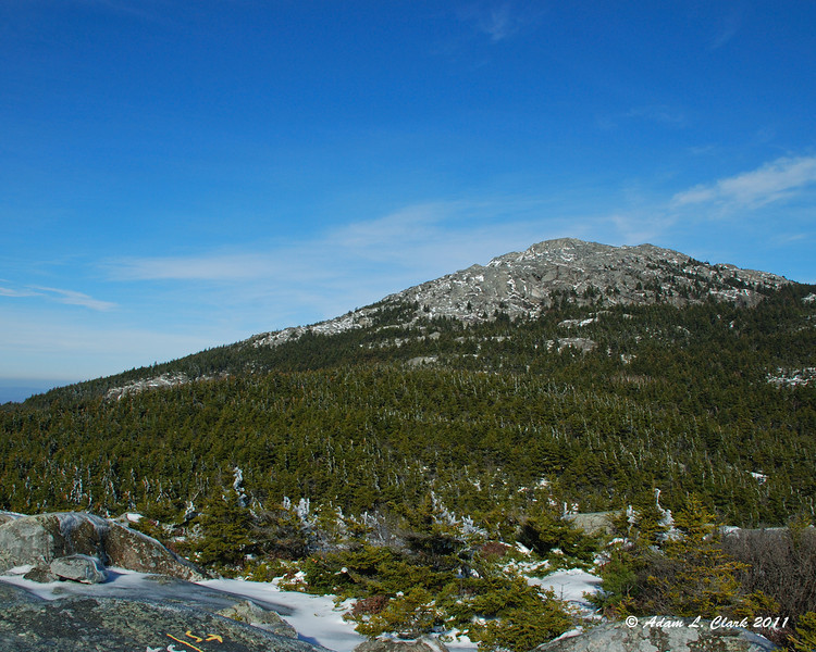 Looking up to the summit from Bald Rock