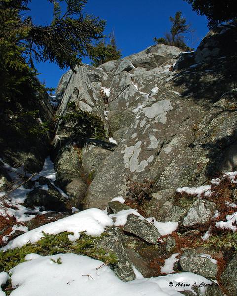 The last steep climb on the Cliff Walk Trail