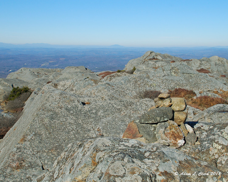 Small cairn marking the trail