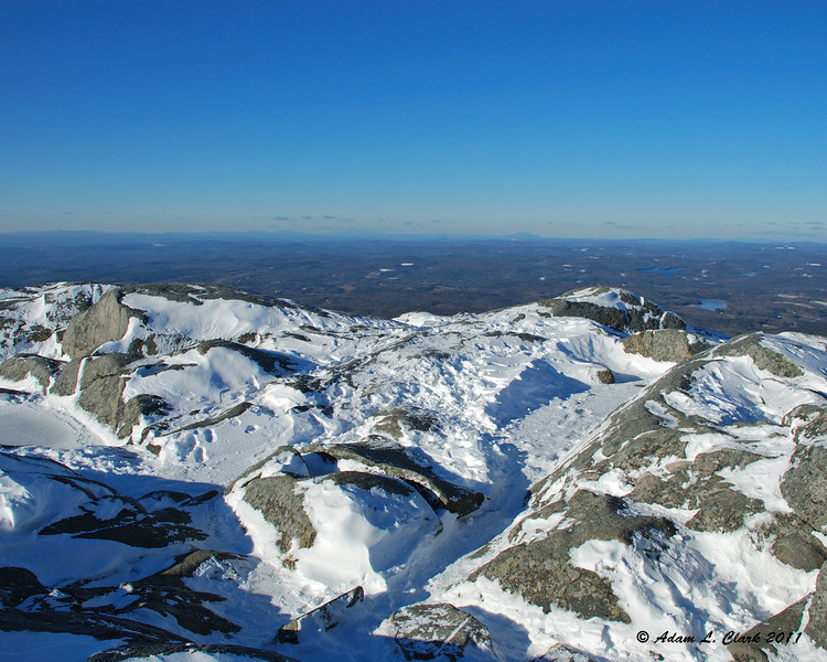 View North over the summit