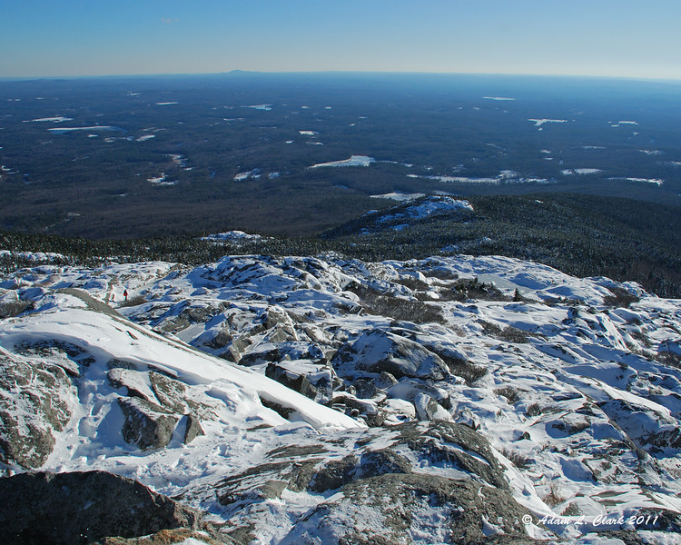 View South over Bald Rock from the summit