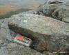 A memorial stone near the summit