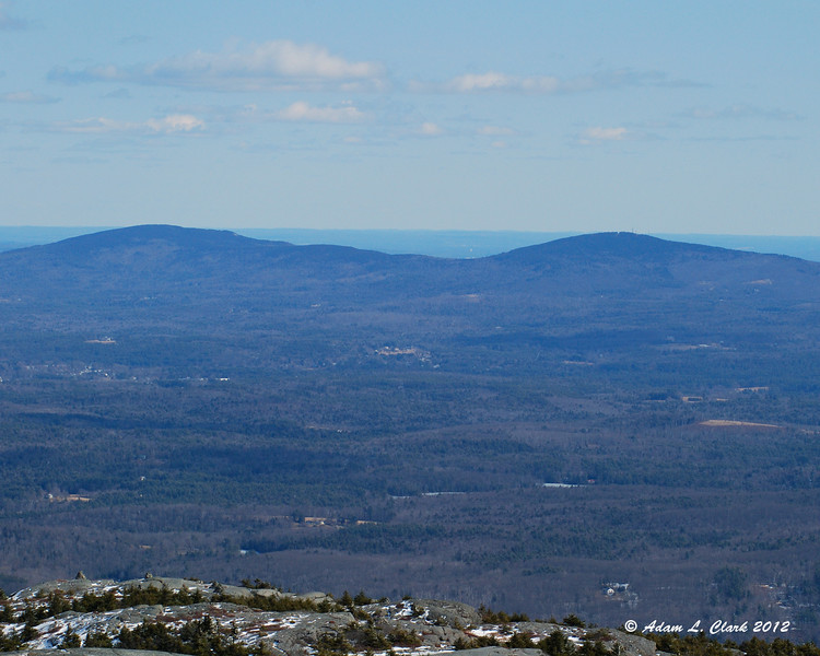North Pack Monadnock (L) and Pack Monadnock (R) to the east