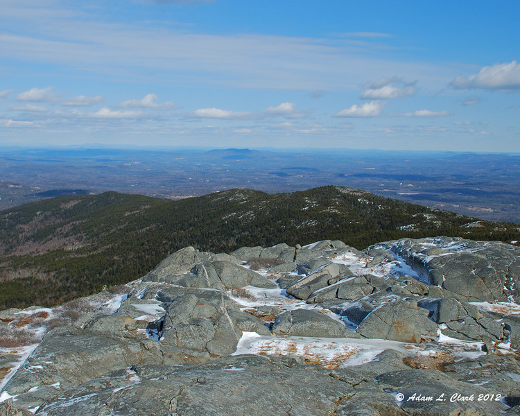 View northeast from the summit over the Pumpelly Ridge