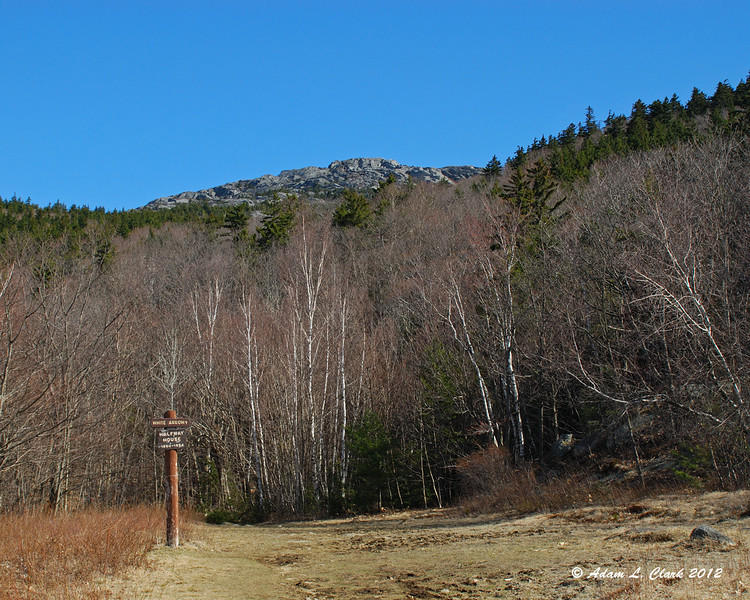 The first view of the summit from the site of the old halfway hosue