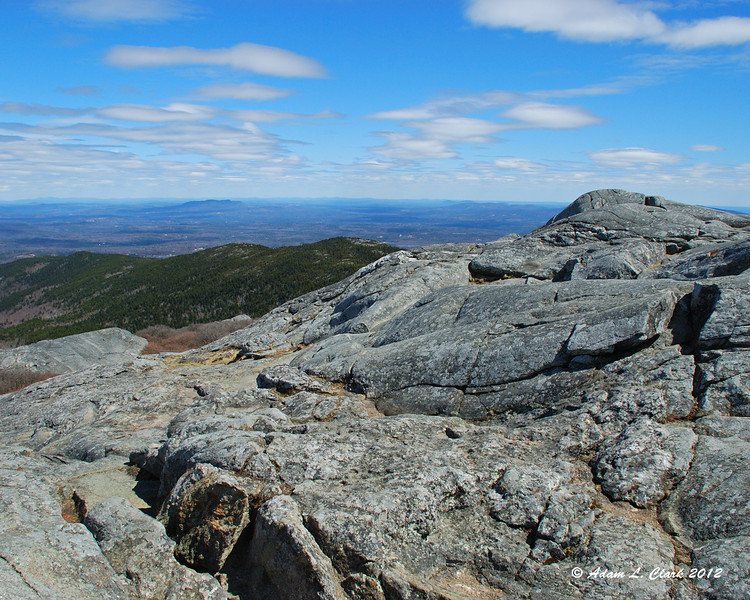 View northeast over the summit