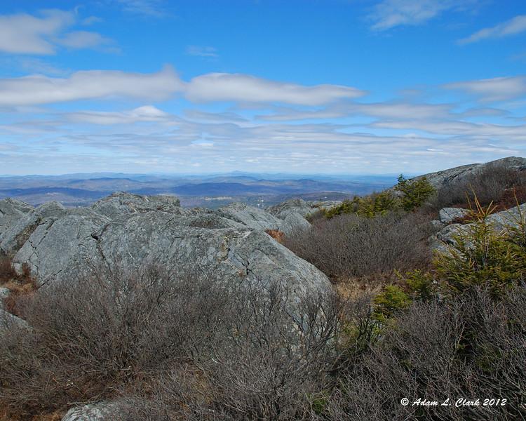 View north over the ridge