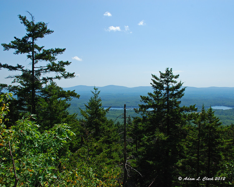 The first of many views to the east along the trail.  Pack Monadnock is seen off in the distance