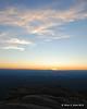 The sun is below the horizon now
