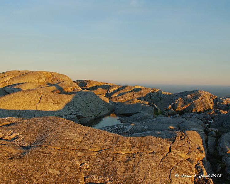 Summit rocks near sunset